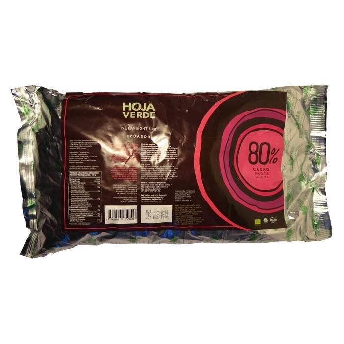 Couverture Bio 80% pure chocolade, 1kg