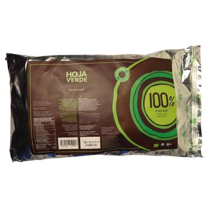 Couverture 100% pure chocolade, biologisch, Kosher, Ecuador, 1 kg
