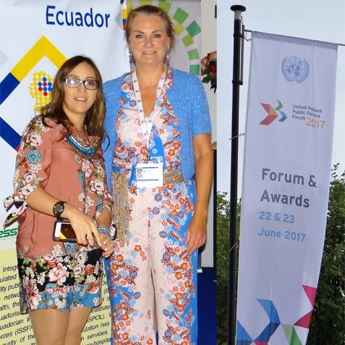 United Nations Award voor Minister of Health Ecuador