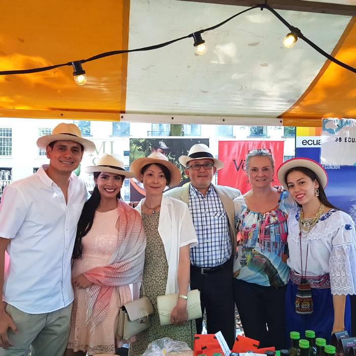 Ecuador producten op het Embassy Festival in Den Haag