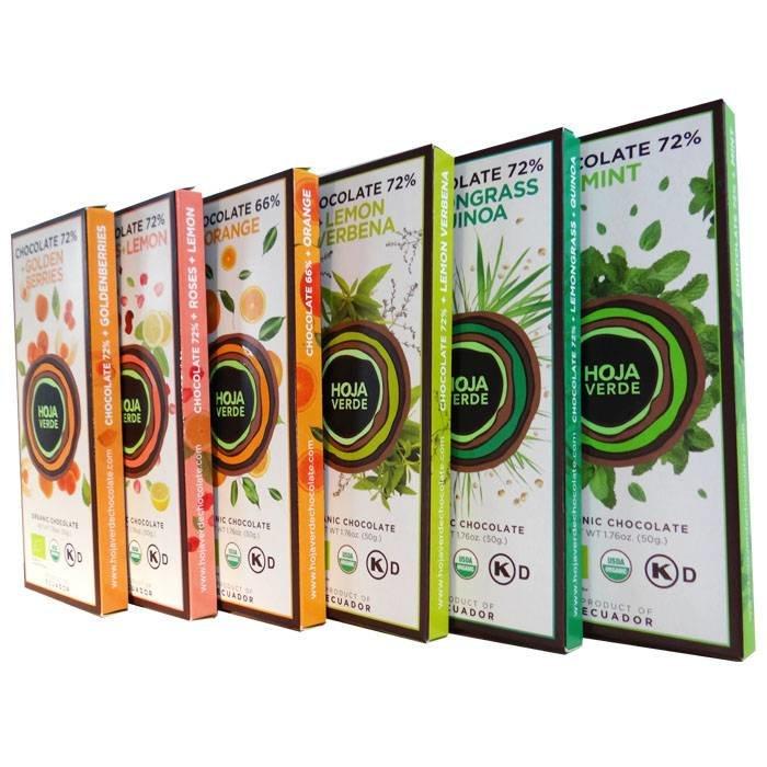 Pakket 6 nieuwe smaken repen, BIO, 300 g