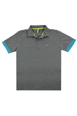 SUN68 Polo Small Stripes Fluo
