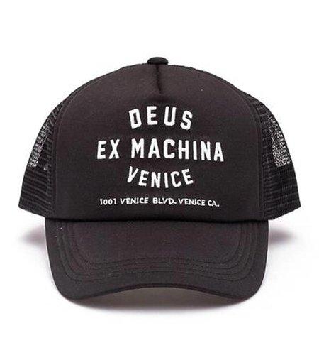 Deus Venice Address Trucker Cap Black