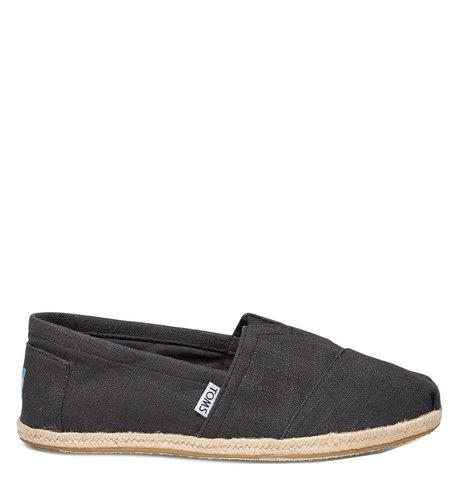 Toms Classic Linen Rope Sole Black