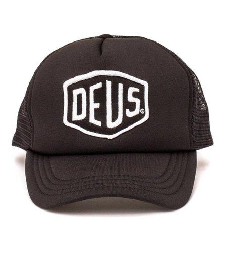 Deus Baylands Trucker Cap Black White