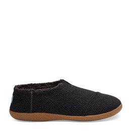 Toms House Slip Chevron Wool Black