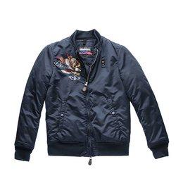 Blauer Princeton 1936 Bomber Jacket