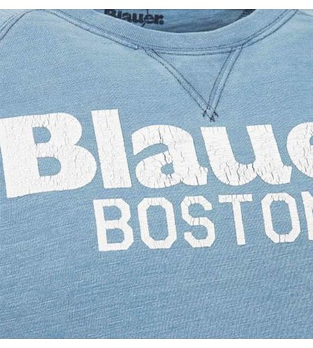 Blauer Boston 1936 Crew Neck Sweatshirt Sky Blue