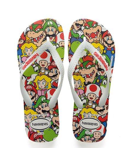 Havaianas Mario Bros White