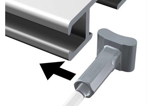 Staaldraad 2 mm. met Solid Slider