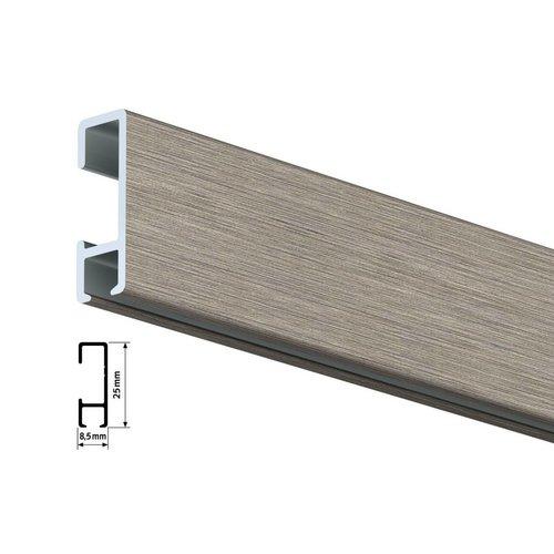 Clickrail geborsteld aluminium