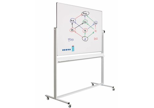 Kantelbaar whiteboard emailstaal wit/wit