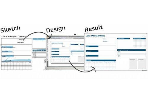 Whiteboard naar eigen ontwerp met Softline profiel