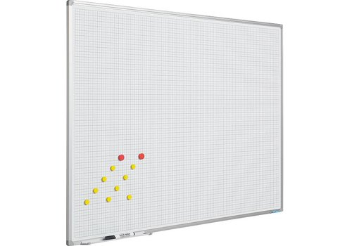 Whiteboard Geruit 2x2(1x1) cm.
