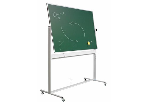 Whiteboard groen kantelbaar