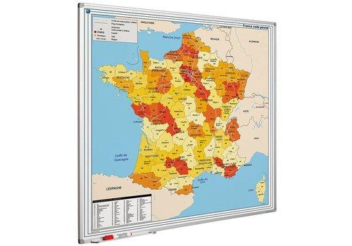 Postcode kaart Frankrijk