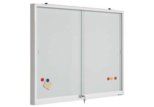 Muurvitrine glas met whiteboard