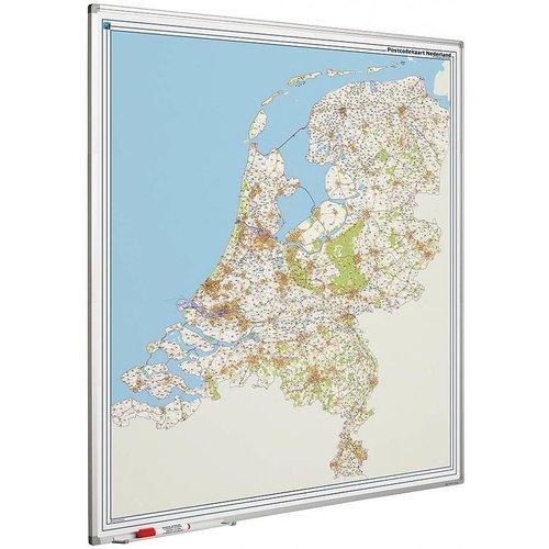 Landkaarten met postcodes, NL, B, D, Fr.