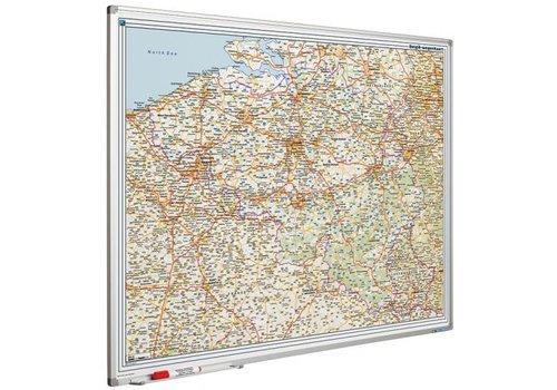 Landkaart van Belgie en Luxemburg