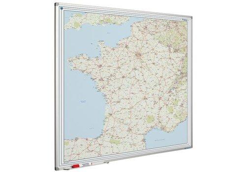 Landkaart van Frankrijk