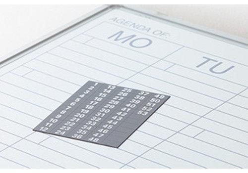 Weeknummers voor weekplanner