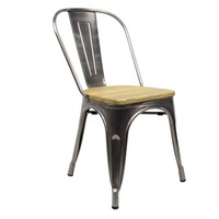 Tolix chair Metal Wooden seat  sc 1 st  Furnwise & Tolix chair Metal Wooden seat - Shipped within 24 hours! - Furnwise islam-shia.org