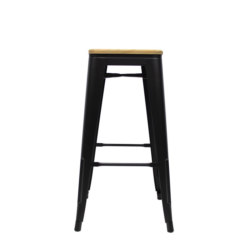 Tolix Stool Black Wooden seat · Enlarge image  sc 1 st  Furnwise & Tolix Stool Black Wooden seat - Shipped within 24 hours! - Furnwise islam-shia.org