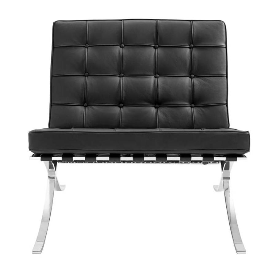 Barcelona Chair Black - Premium leather