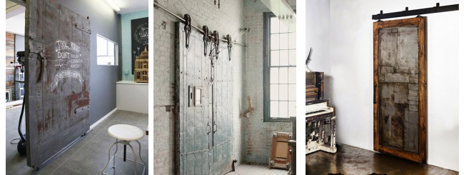 Industrial and vintage doors