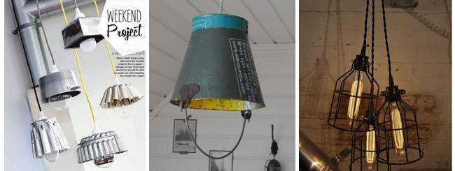 DIY lamps - industrial vintage interior