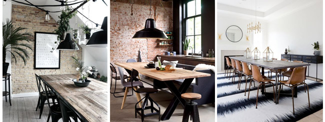 Industrial dining room impression