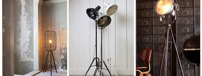 Industrial design Floor lamps