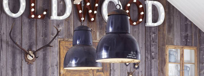 Industrial interior design lights