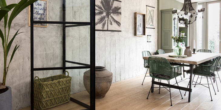 Botanical Scandinavian interior design green