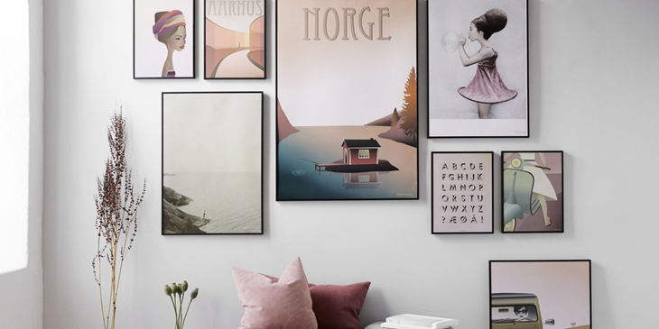 Scandinavian paintings art wall