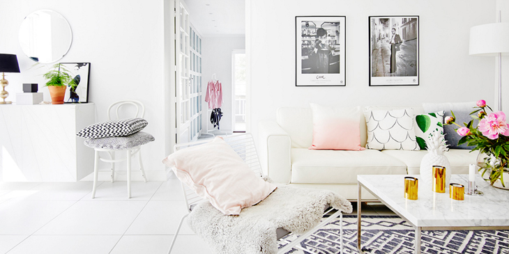 Scandianvian white interior design
