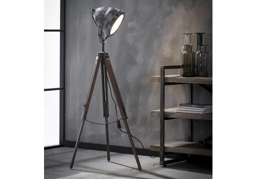 Floor Lamp Iron Wood Tripod
