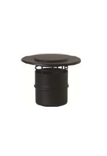 ATI Rookgaskap Verticaal 80mm zwart rvs