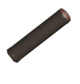 ATI Rookgasbuis Gëisoleerd 1,0m 130/80mm zwart rvs