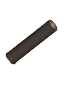 ATI Rookgasbuis Geisoleerd 0,5m 130/80mm zwart rvs