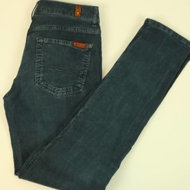 7 FOR ALL MANKIND BLAUWE BROEK IN VELOURS | 7 FOR ALL MANKIND | maat 26