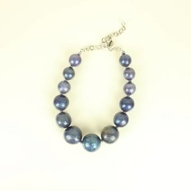BLAUWE PARELKETTING