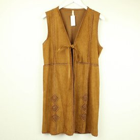 LILY WHITE GILET IN SUEDETTE | LILY WHITE | maat S/M