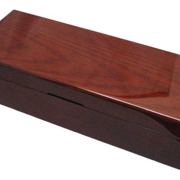 6 Genuine Mahogany Wood Watch Box