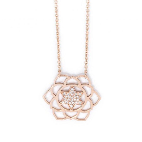 Anahata paved diamonds necklace