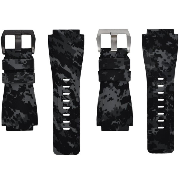 Horus Graphite Digital Camouflage Rubber Bell & Ross Strap