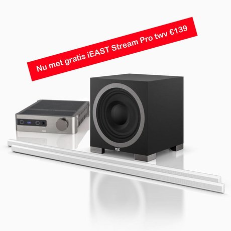 Audio Innovations AI-1203-ESV speaker kit (2.1 set with free iEAST Stream Pro worth € 139)