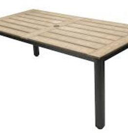 "Lounge Factory TAHITI POLYTEAK DINING TABLE 87x40x30"""