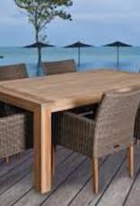 """NEW VINTAGE TEAK DINING TABLE 87x40x30"""""""