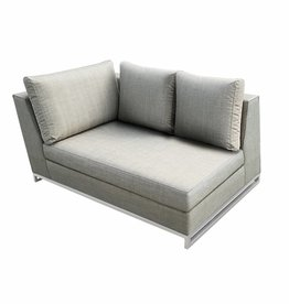 Lounge Factory NEW CHIC L-SHAPE CORNER TAUPE 47 X 35 X 28""